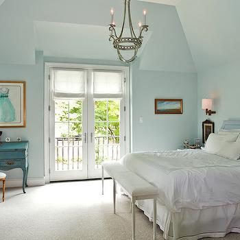 Turquoise Bedroom, French, bedroom, Andrews Design