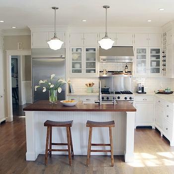 Beadboard Kitchen Island, Cottage, kitchen, Taryn Emerson Design