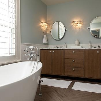 Bathroom Sconces With Bling white carrera marble countertops - traditional - bathroom - lamantia
