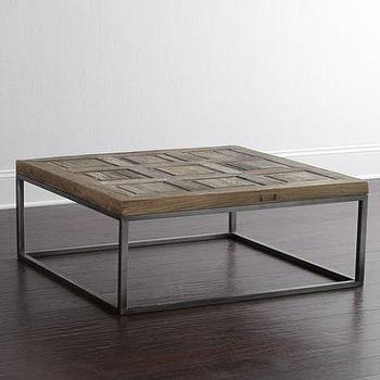Woodbury Grey And Brown Coffee Table