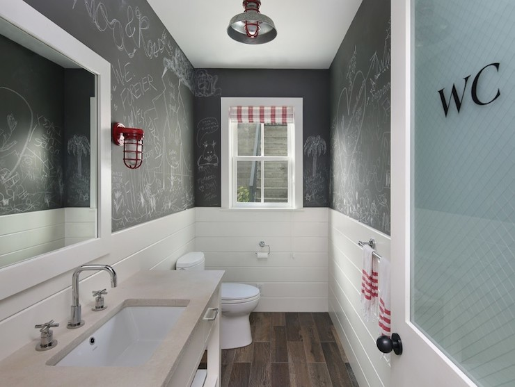Chalkboard Paint Bathroom Contemporary Bathroom