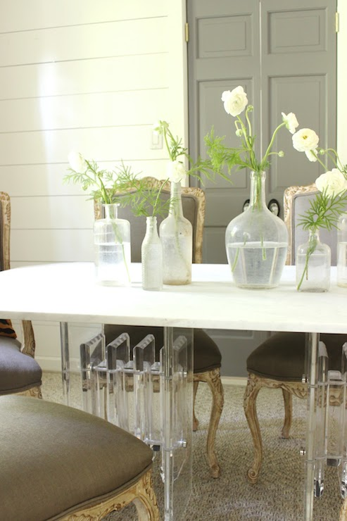 Acrylic Dining Table - Transitional - dining room - Benjamin Moore ...