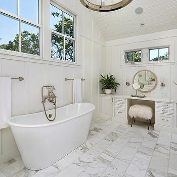 Bathroom Board And Batten Transitional Bathroom