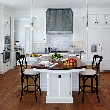 View Full Size. Gorgeous Kitchen With White Inset Cabinets Accented With Exposed  Hinges ...