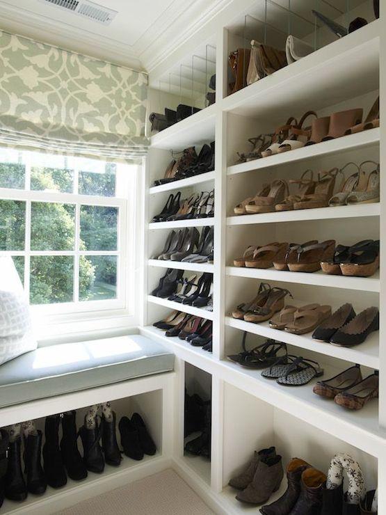 Walk In Closet Window Seat Bench Design Ideas