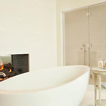 See Through Fireplace, Contemporary, bathroom, Chris Barrett Design