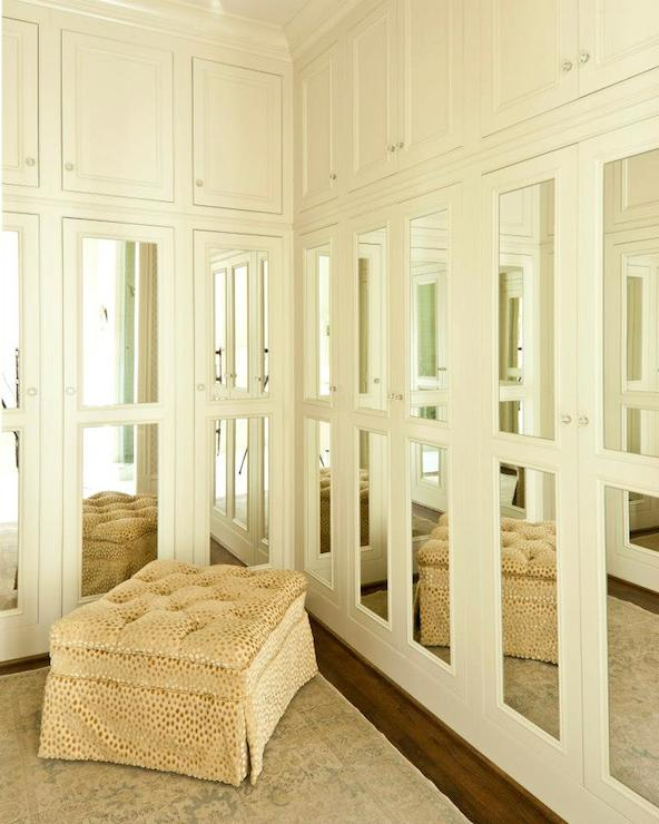 Mirrored Closet Doors Transitional Closet Cantley And Company