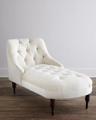 Purple button tufted velvet chaise for Alaina tufted chaise in white