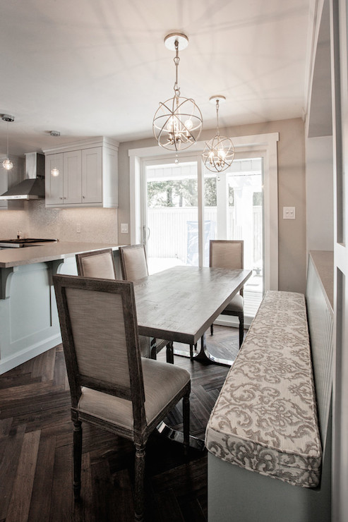 Built in dining bench contemporary kitchen madison taylor design built in dining bench aloadofball Gallery