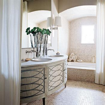Half Moon Washstand View Full Size. Stunning Bathroom Featuring A  Contemporary Demilune Sink Vanity ...