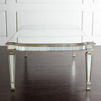 John Richard Collection Eliza Silver Mirrored Dining Table