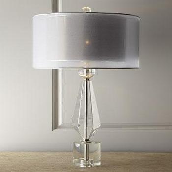 soho living lighting. John-Richard Collection Double Shade Grey Crystal Lamp Soho Living Lighting