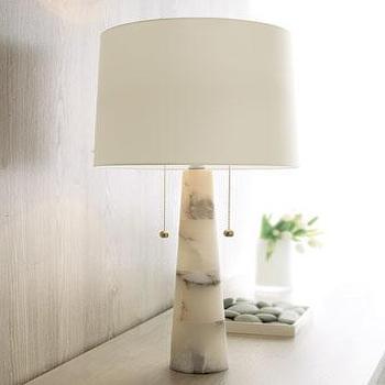 Arteriors Sydney White Marble Lamp