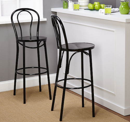 Crate Barrel Vienna Black 24 Bar Stool Look for Less