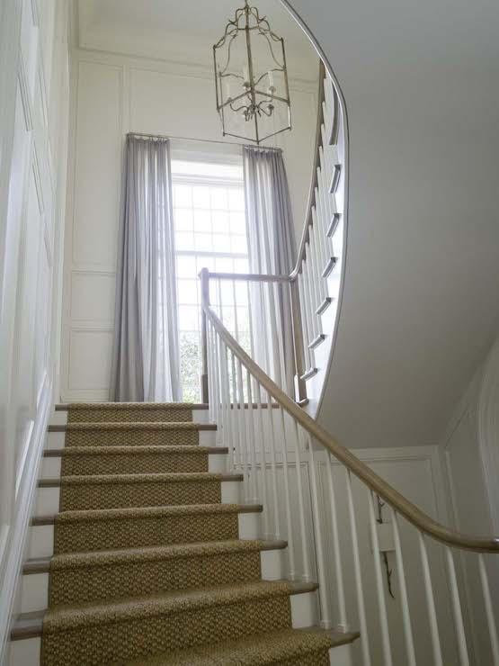Wainscoting Up Stairs Design Ideas