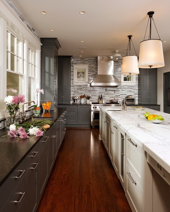 Transitional Kitchens With White Cabinets: Labrador Antique Granite