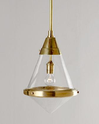 & Visual Comfort Gold Gale Pendant Light