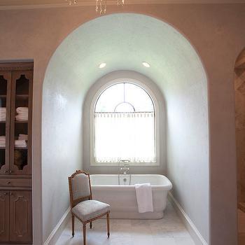 Arched Bathtub Alcove, Transitional, bathroom, Meredith McBrearty