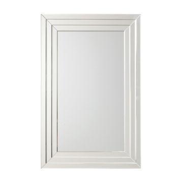 Threshold Transitional Beaded Silver Wall Mirror