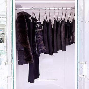 Mirrored Closet Doors, Contemporary, closet, Closette