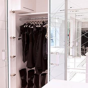 Mirrored Closets, Contemporary, closet, Closette