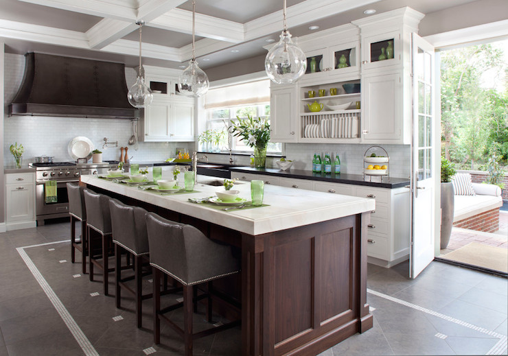 Built In Plate Rack Transitional Kitchen Exquisite