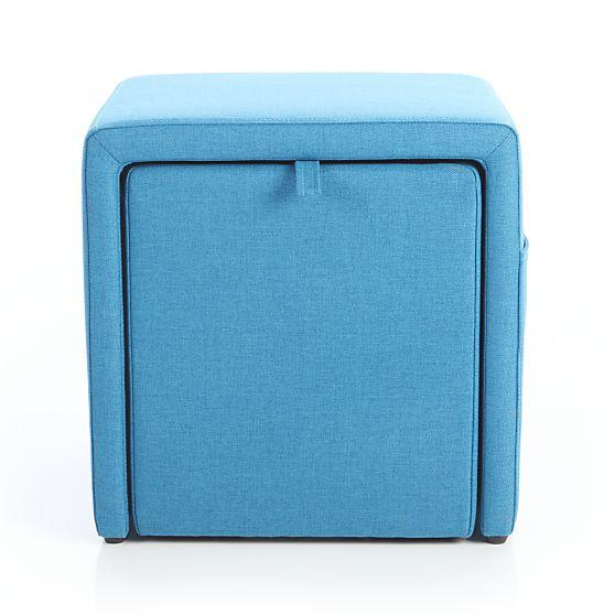 Miraculous Stash Aqua Blue Storage Ottoman Machost Co Dining Chair Design Ideas Machostcouk