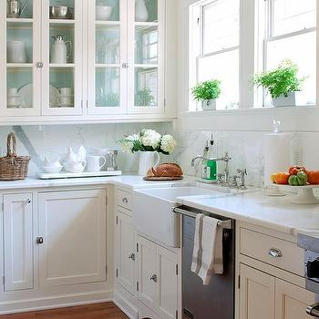 paint inside cabinets - White Inset Kitchen Cabinets