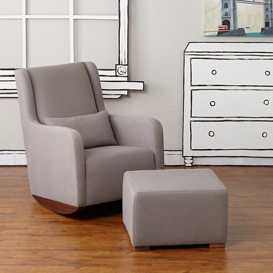 Phenomenal Marley Grey Rocker And Ottoman Pabps2019 Chair Design Images Pabps2019Com