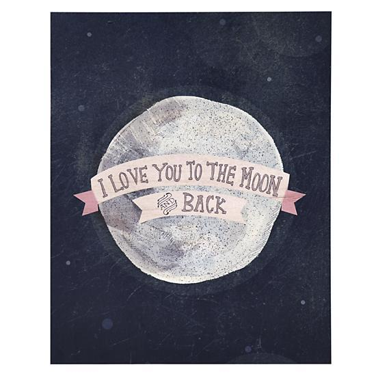I Love You To The Moon And Back Wall Art love you to the moon repurposed wood wall art