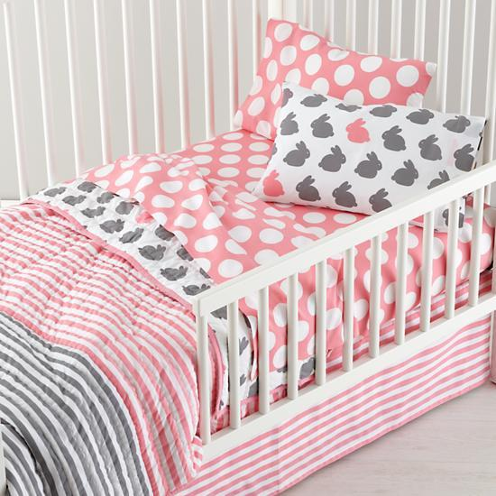 Ice Cream Pink Toddler Sheet Set
