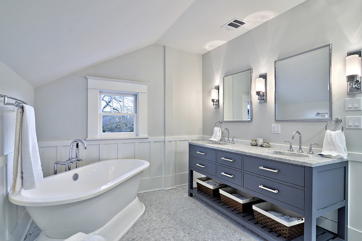 Gray Bathroom Contemporary Bathroom Benjamin Moore