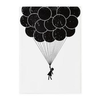 Print Noir Canvas Wall Art (Balloon), The Land of Nod