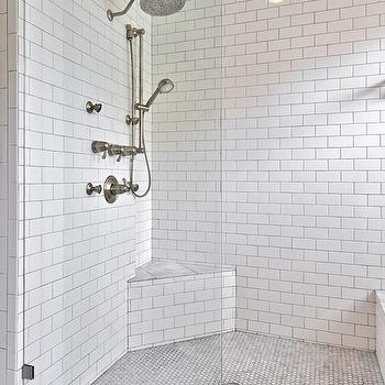 Stand Up Shower With Seat Main Hall Bathroom