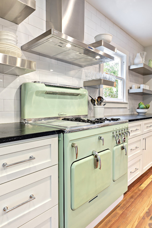 Vintage Green Kitchen Countertops