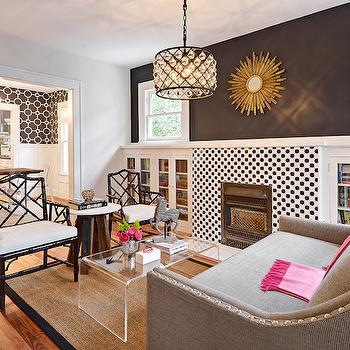 Fireplace Bookcases, Contemporary, living room, Benjamin Moore Graphite, Avenue B