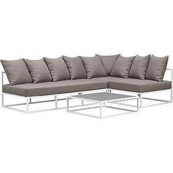 casbah outdoor sectional pieces, CB2