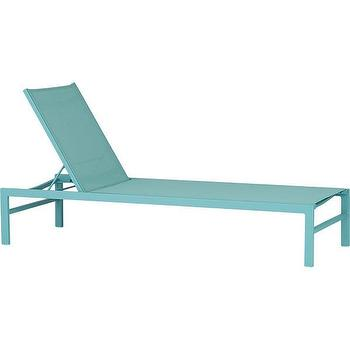 Chesapeake futon lounger pottery barn for Aqua chaise lounge