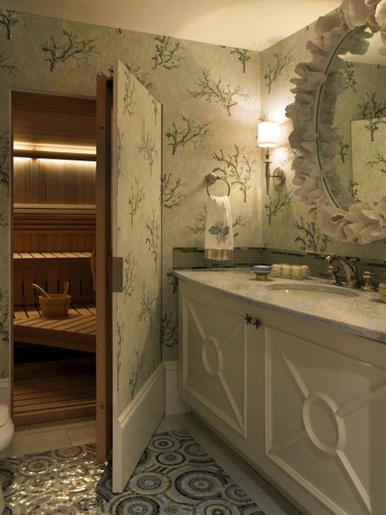Hidden bathroom door design ideas for Decoration porte wc