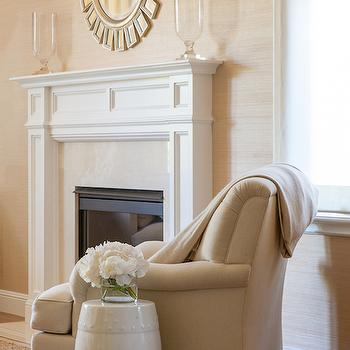 Rafia Grasscloth View Full Size. Stunning Living Room With Uttermost Cyrus  Sunburst Round Wall Mirror ... Pictures Gallery