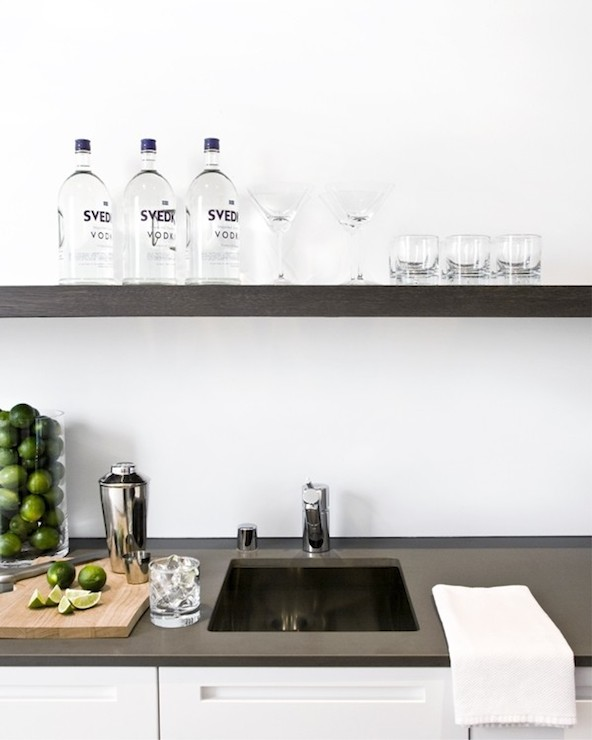 aa851e0c83 Floating Kitchen Shelf - Modern - kitchen - Nicole Hollis