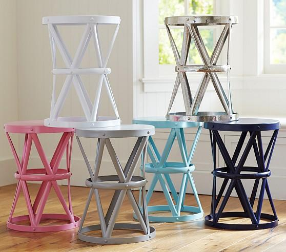 Jordan Various Colors Metal Side Table