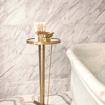 French Moderne Side Table, Contemporary, bathroom, The Greenwich Hotel