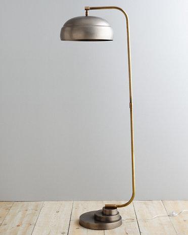 Steampunk Grey Floor Lamp