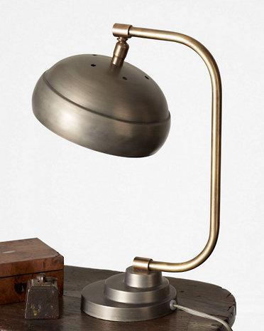 Steamer Grey Desk Lamp