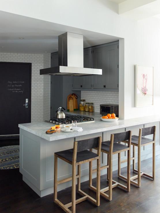 Grey Kitchen Cabinets Contemporary Kitchen Farrow And Ball Plummit Damon Liss