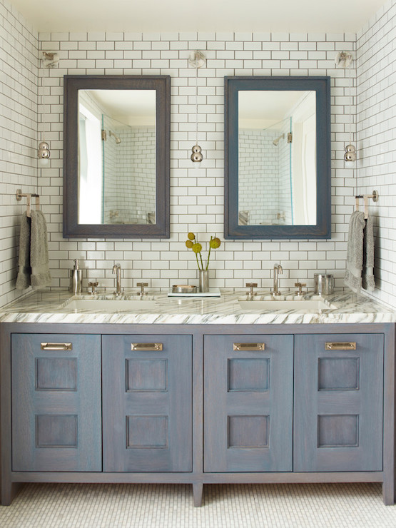 Blue Washtsand view full size  Contemporary bathroom. Blue And Grey Bathrooms Design Ideas
