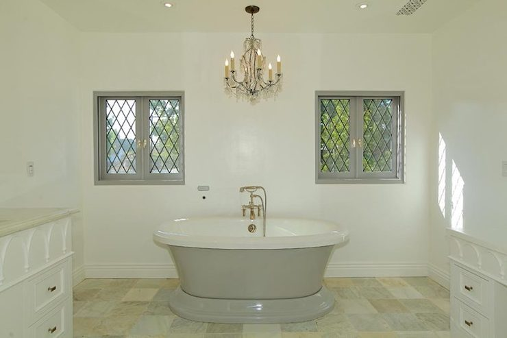 White and Gray Bathrooms - Transitional - bathroom - Thea Home Inc