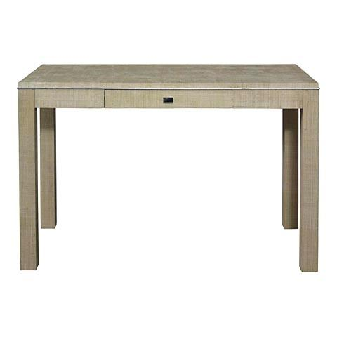 Raffia Wrapped Parsons Desk I Bassett Furniture