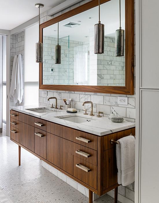 mid century modern vanity Mid Century Modern Vanity   Vintage   bathroom   Damon Liss Design mid century modern vanity